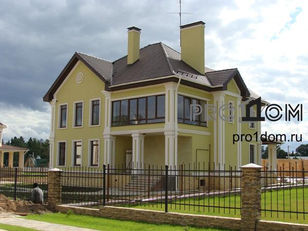 построенный частный дом по проекту архитектурного бюро Pro1Dom